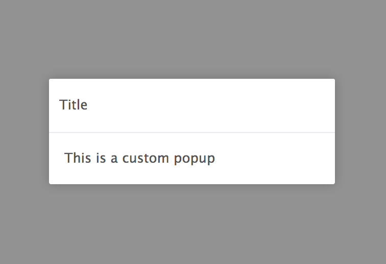 Popup Component Example